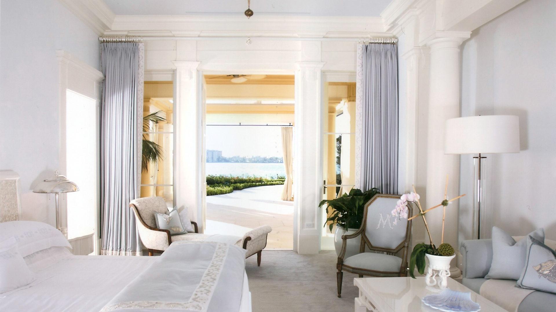 Master Bedroom doors open